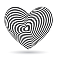 black heart on white background Optical vector image