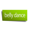 belly dance green paper sign on white background vector image