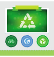 design template with ecology icons vector image