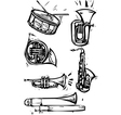 Musical Instrument Set vector image