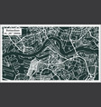 rotterdam map in retro style hand drawn vector image
