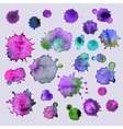Spray paint watercolor splash background vector image
