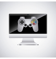 video game control and display vector image