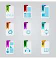 Set of file extension vector image vector image