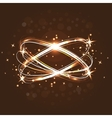 Neon crossed circles light lines effect Magic vector image vector image