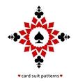 Spade card suit snowflake vector image