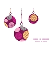 abstract textured bubbles Christmas ornaments vector image