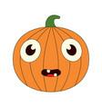 a bored pumpkin vector image