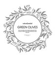 green olives round wreath sketch composition vector image