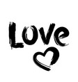 hand drawn love and heart shape vector image