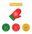 mitten outline icon vector image
