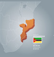 mozambique information map vector image