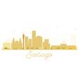 Santiago City skyline golden silhouette vector image