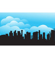 Silhouette of city and cloud vector image