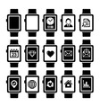 Smart Watch Icon Set vector image