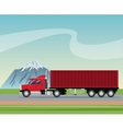 truck trailer container delivery transport road vector image