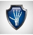 symbol x-ray hand medical icon vector image