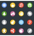 Winter stickers icon in the circle set vector image