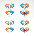 Family love icon collection set vector image vector image