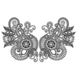 ornamental floral neckline embroidery fashion vector image vector image