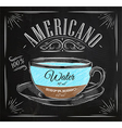 Poster americano chalk vector image vector image