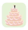 Wedding cake cartoon icon vector image