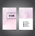 watercolor business card design 0706 vector image