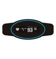 heartrate wrist monitor icon vector image
