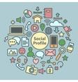 Social Media Icons Set Network Symbols vector image