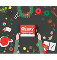 Christmas decorationsPreparing for Christmas card vector image
