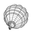 doodle of hot air balloon sketch up line eps 10 vector image