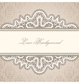Old lace background vector image