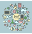 Social Media Icons Set Network Symbols vector image