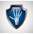 symbol x-ray hand medical icon vector image