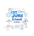 travel concept thin line flat design vector image