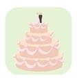 Wedding cake cartoon icon vector image
