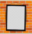 wooden frame red brick vector image