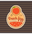 Peach fizz retro fruit label vector image