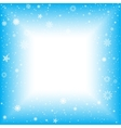 snow square abstract background vector image vector image