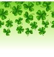 Saint Patricks Day seamless border Green clover vector image