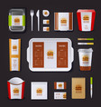 fastfood corporate identity vector image