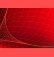abstract red background with network curve lines vector image vector image