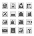 Vacation buttons collection isolated on white vector image vector image