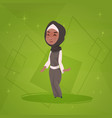 arab girl small cartoon character muslim female vector image