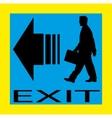 Exit emergency sign door with human figure label vector image