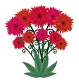 Flower bouquet fantastic floral bouquet vector image