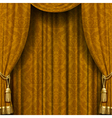 Yellow-brown curtain vector image vector image