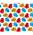 3D Flying Heart Abstract Seamless Pattern vector image