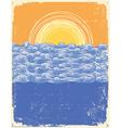 vintage sea background vector image vector image