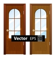 entrance wooden doors on a white background vector image